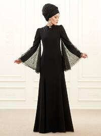 Mina Abiye Elbise - Siyah - An-Nahar