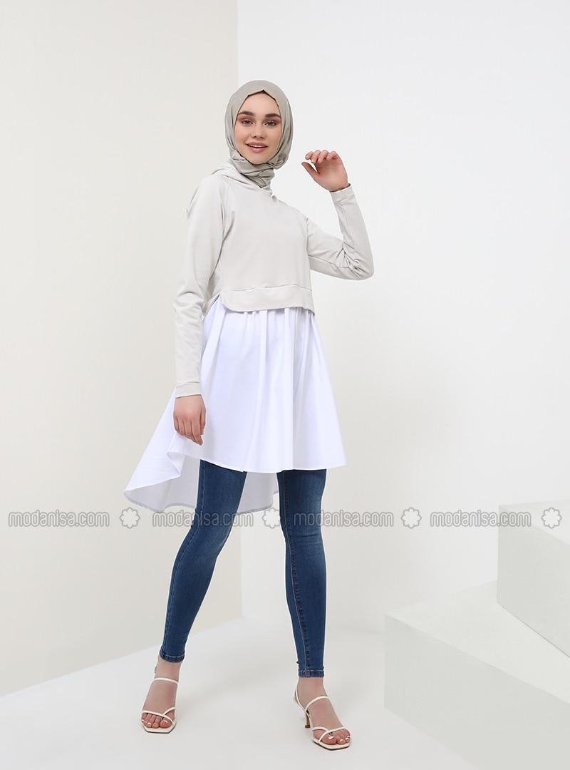 White - Gray - Ecru - Tunic