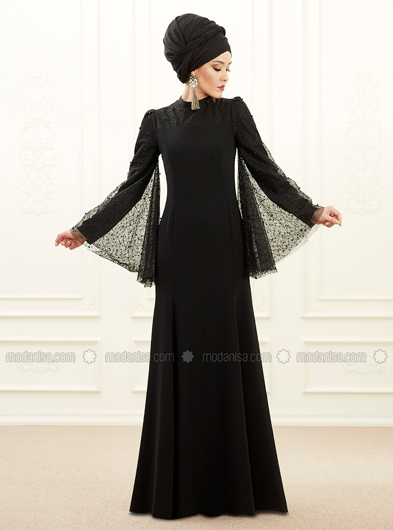 edfe216e17881 Mina Abiye Elbise - Siyah