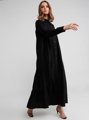 3e2591532 أسود - قبة بارزة - نسيج غير مبطن - فستان