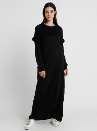 e11b76374 أسود - قبة مدورة - نسيج غير مبطن - فستان