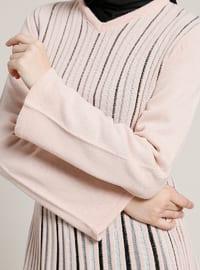 Powder - Stripe - V neck Collar - Tunic