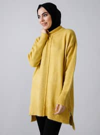 Mustard - Polo neck - Acrylic - Tunic