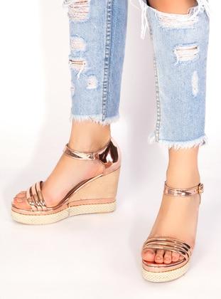 Powder - Gold - High Heel - Shoes - Ayakkabı Havuzu