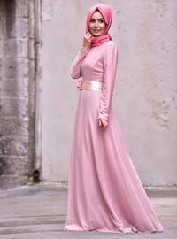Powder - Unlined - Crew neck - Muslim Evening Dress