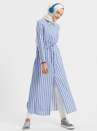 Saxe - Stripe - Point Collar - Tunic