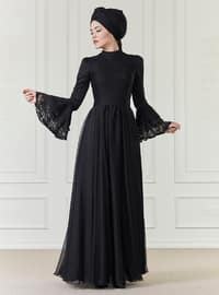 İlruba Abiye Elbise - Siyah - An-Nahar