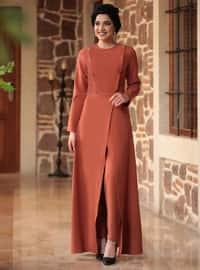 Tuğla - Astarsız kumaş - Kostüm