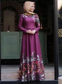 Zümra Elbise - Fuşya - An-Nahar