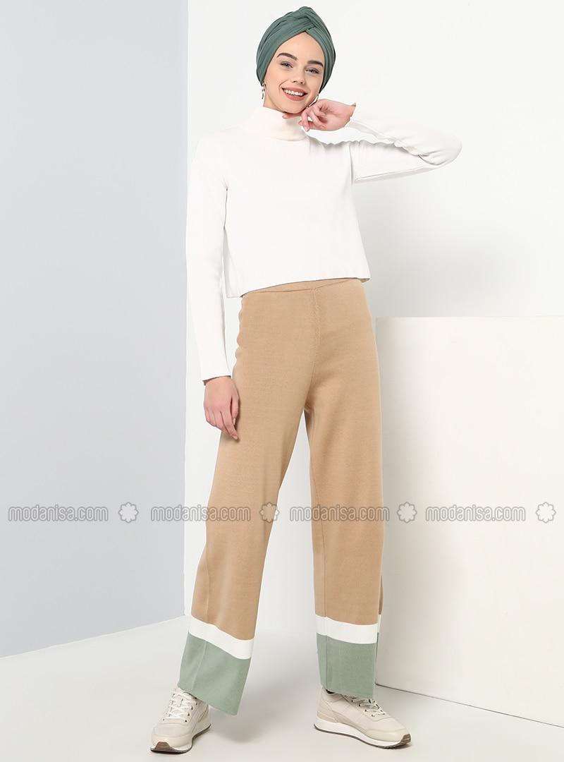 Camel - Cotton - Acrylic -  - Pants