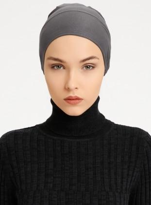 Combed Cotton - Lace up - Non-slip undercap - Gray - Bonnet - Tuva Bone