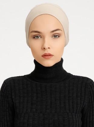 Combed Cotton - Lace up - Non-slip undercap - Beige - Bonnet - Tuva Bone