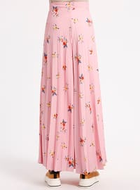 Pink - Floral - Pants
