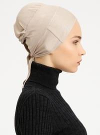 Combed Cotton - Lace up - Non-slip undercap - Beige - Bonnet