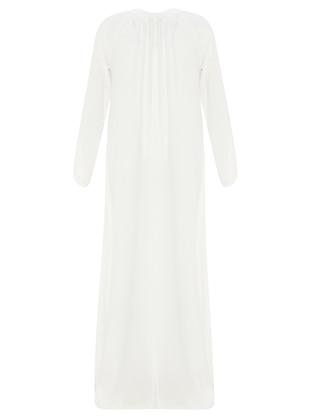 White - Stripe - Crew neck - Unlined - Dresses