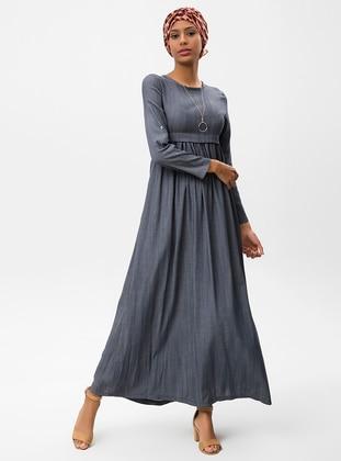 29fdb2362 أزرق داكن - قبة مدورة - نسيج غير مبطن - فستان