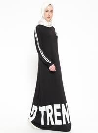 Cep Detaylı Elbise - Siyah - XTREND