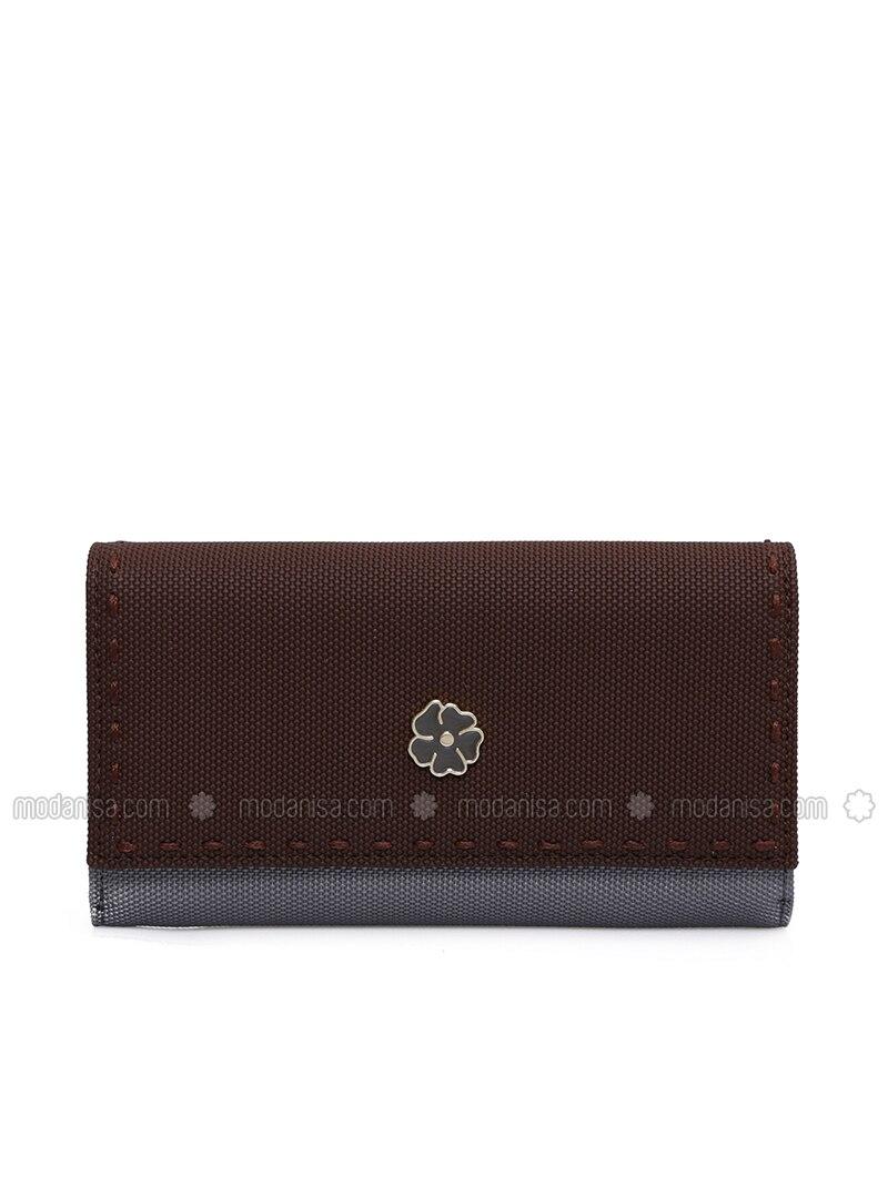 Tan - Silver tone - Wallet