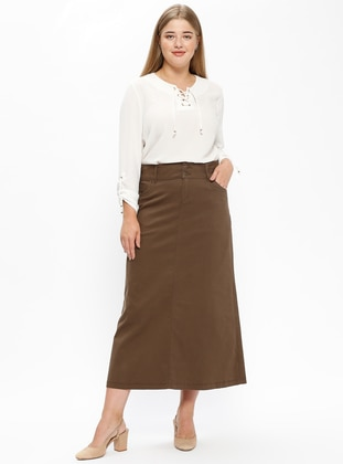 Minc - Unlined - Plus Size Skirt