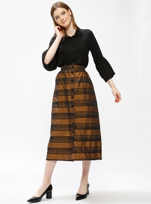 Mustard - Stripe - Unlined - Skirt
