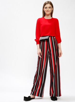 Red - Stripe - Pants