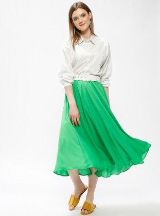 Green - Half Lined - Skirt