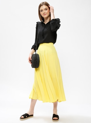 Yellow - Half Lined - Skirt