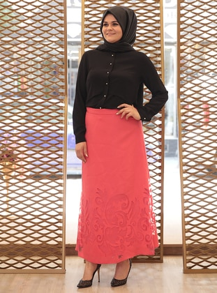 Coral - Plus Size Skirt