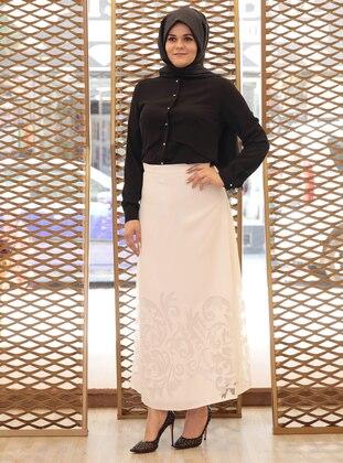 Ecru - Plus Size Skirt