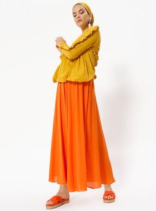 Orange - Half Lined - Skirt