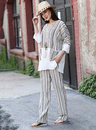 Camel - Stripe - Cotton - Suit - Tommy Life