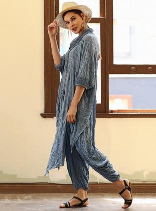 Blue - Cotton - Suit - Tommy Life