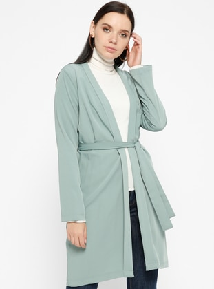 Green - Unlined - Shawl Collar - Jacket