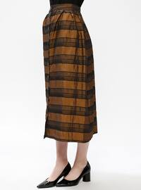 Mustard - Stripe - Unlined - Skirt