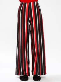 Red - Stripe - Pants