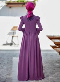 Dusty Rose - Point Collar - Fully Lined - Dresses