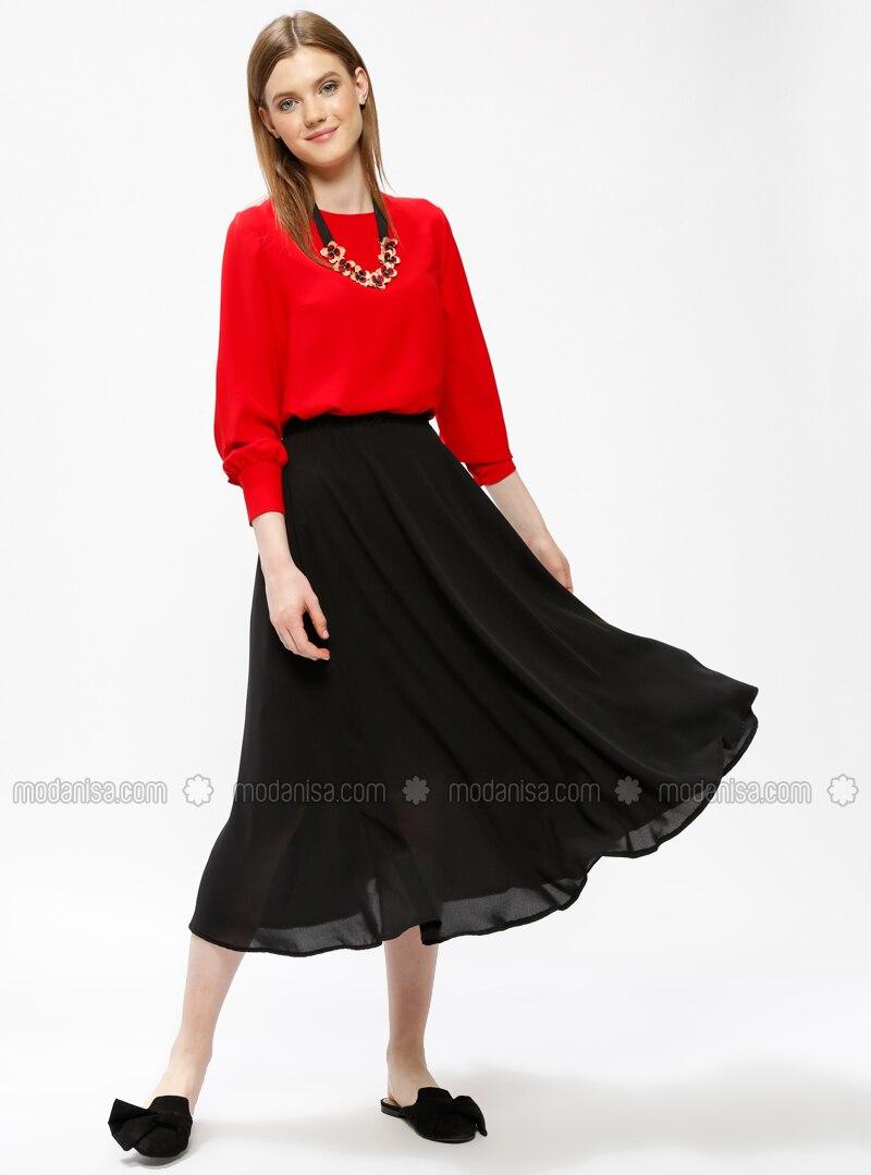Black - Half Lined - Skirt