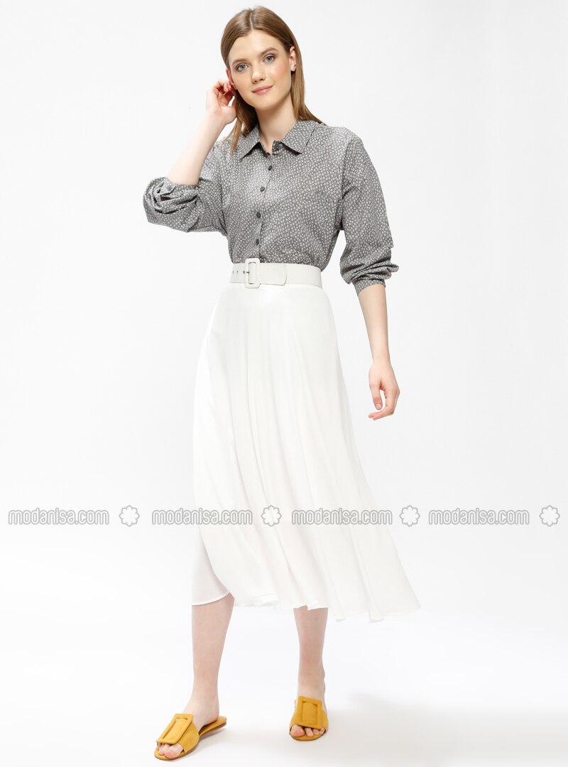 White - Half Lined - Skirt