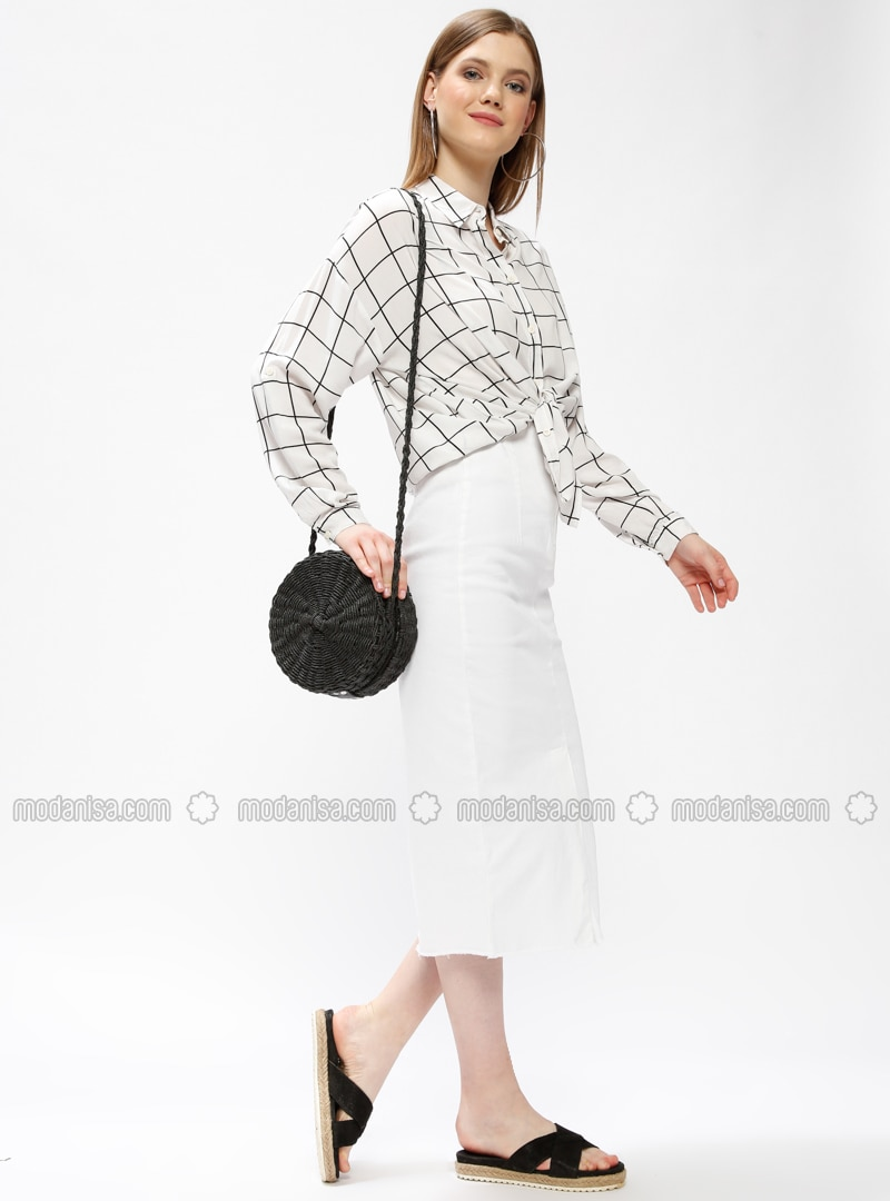 White - Unlined - Skirt