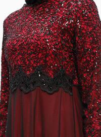 Fuchsia - Crew neck - Fully Lined - Dresses