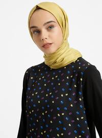 Black - Polka Dot - Crew neck - Tunic