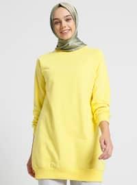 Crew neck - Yellow - Sweat-shirt