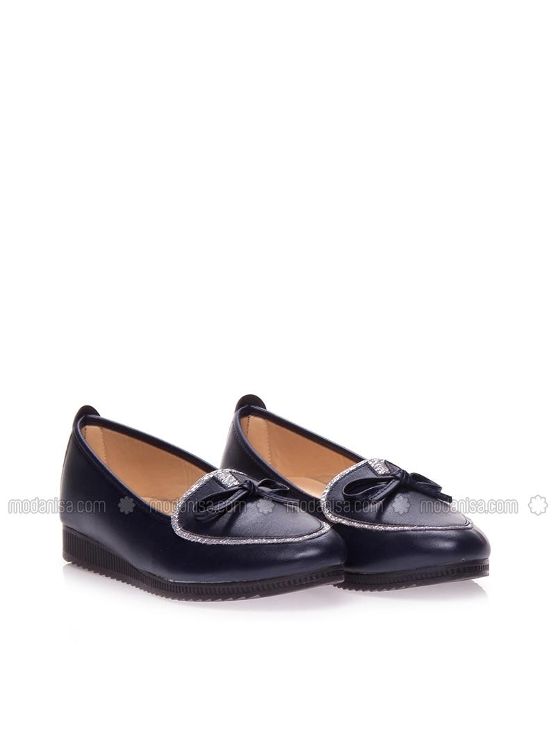 30cc6a866821 Navy Blue - Flat - Sandal. Fotoğrafı büyütmek için tıklayın