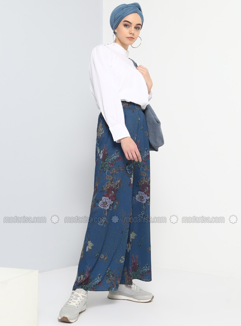 Navy Blue - Multi - Pants