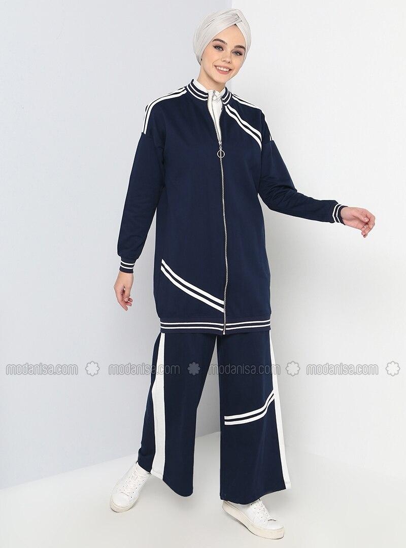 Navy Blue - Tracksuit Set