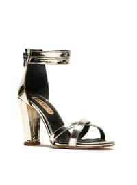 Topuklu Ayakkabı - Gold - ROVIGO