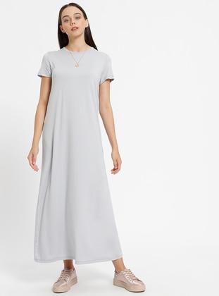 db86e431873b5 Everyday Basic Büyük Beden Elbise Modelleri ve Fiyatları - Modanisa.com