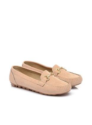 Beige – Flat – Flat Shoes – Shoestime