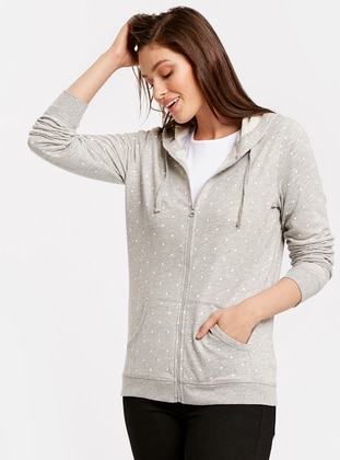 Sweatshirt - Gri - LC WAIKIKI Ürün Resmi