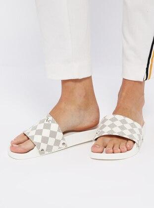 Beige - Sandal - Slippers
